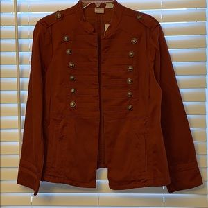 Chico's - military jacket, petite 2, copper pearl